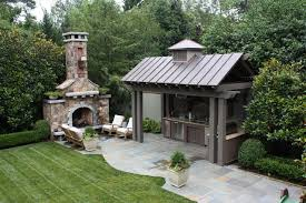 outdoor kitchen and fireplace traditional patio other metro by