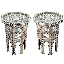 moroccan style coffee table side table end beautiful pair of inlay tables for silver style moroccan style coffee table