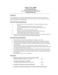 Med Tech Resume Sample Therpgmovie