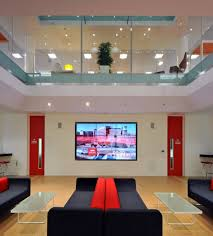 rackspace office. Morgan Lovell Paints The New Rackspace Office Red, With Flamboyant British-flavored Design!