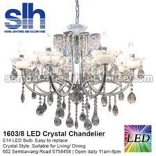 cc1 1603 8 a crystal chandelier led semba
