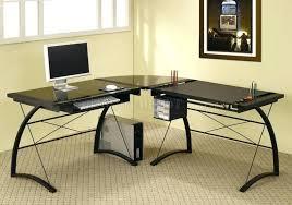 glass home office desk metal computer desk black glass top metal base modern home office elegant