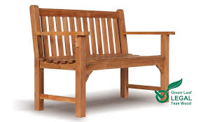 2 seater farleigh teak garden bench for just the two of you