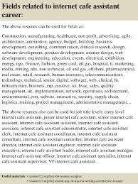 Cafe Attendant Sample Resume Interesting Top 48 Internet Cafe Assistant Resume Samples