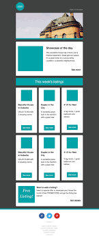 Real Estate Newsletter Template Preview Real Estate Newsletter Template CakeMail Email UIUX 5