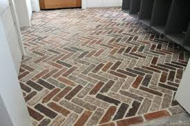 brick tile floor