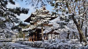 Japan Kyoto Snow Winter Hd Wallpaper Background 21365