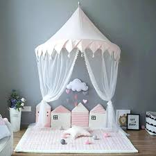 Play Tent For Toddler Bed Canopy In Natural Canvas With Doors ...