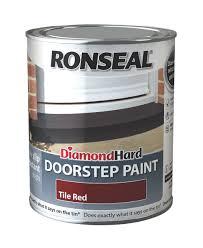 Ronseal Doorstep Paint Tile Red Satin Doorstep Paint0.75L | Departments |  DIY at B&Q