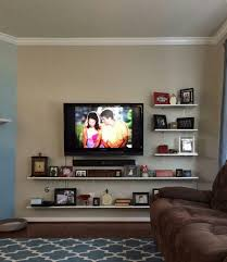 wall mount tv ideas for living room. mounte tv with shelf under - google search | mounted in bedroom pinterest shelves, and tvs wall mount ideas for living room d