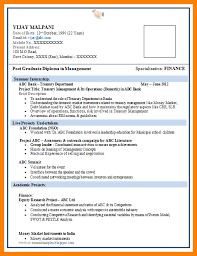 5 Fresher Resume Sample Download Trinity Training