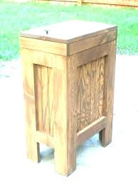 wood trash cabinet wood trash bin for hen garbage cabinet can wooden plans wood double trash