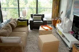 Alternative Living Room Seating Cube Ottomans Help Add Extra Seating Space  When Needed