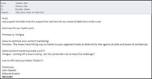 Email Reminder Test Reminder Email Marketingexperiments