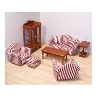 Where to find dollhouse furniture Barbie Doll Product Image Melissa Doug Classic Victorian Wooden And Upholstered Dollhouse Living Room Furniture 9 Decoist Dollhouse Furniture Accessories Walmartcom