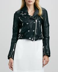 women s fashion outerwear jackets black leather jackets burberry brit ribbed leather moto jacket