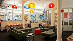 creative office space ideas. Office:Excellent Office Design With Creative Colorful Pendant Lamp And L Shape Grey Bed Sofa Space Ideas