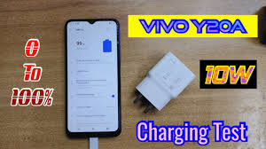 Vivo Y20A Charging Test