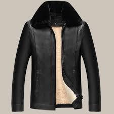 brand mens plus velvet jackets coats pu designer jackets men outerwear winter fur collar fashion leather