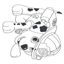 Paw Patrol Rubble S Badge Coloring Page Free Printable Simple Home