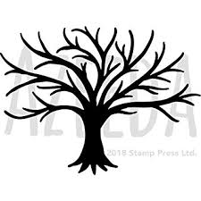 Template Tree Large A2 Bare Tree Silhouette Wall Stencil Template