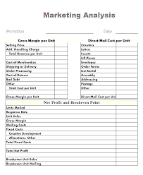 Product Profitability Analysis Excel Profitability Analysis Template Download Free Financial Project