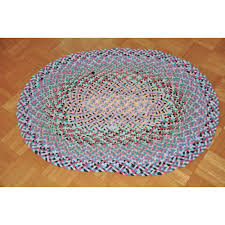 vintage hand braided and sewn folk art rug