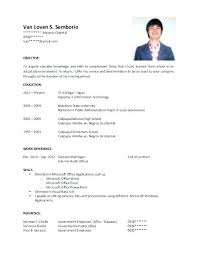 Resume Without Objective Samples Resume Samples For Highschool Graduates High School Objective Sample