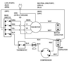 air conditioning thermostat wiring diagram chart diagram Central Air Conditioner Wiring Diagram at Thermostat Wiring Diagram For Central Air