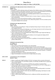 Experienced Recruiter Resume Samples Velvet Jobs