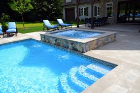 glass tile swimming pool waterline