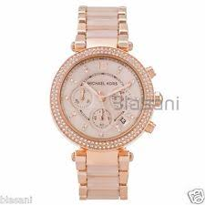 rose gold watches for women men new used michael kors original mk5896 women s parker rose gold blush crystal set watch