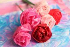 How To Make Flower Out Of Tissue Paper Spring Craft How To Make Tissue Paper Flowers Spring