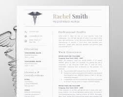 Nursing Resume Template For Word Nurse Cv Rn Etsy Inside Registered