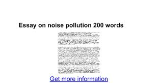 essay on noise pollution words google docs