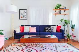 colorful and simple small living room