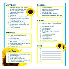 Checklist For House Cleaning Template Screenshot Comfort Room ...