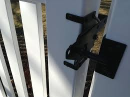Amazoncom Vinyl Fence Gate Latch by Nationwide Industries Home