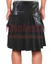 multi leather kilt mens