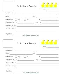 Daycare Form Simple Daycare Invoice Template Free Child Care Receipt Form Fanpopco