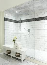 large subway tile black and white shower contemporary bathroom living inside large subway tile inspirations 9 large subway tile