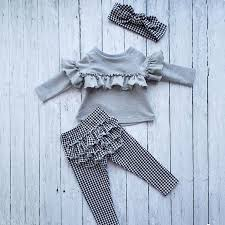 Details About Us Fashion Toddler Kid Baby Girl Ruffle Plaid