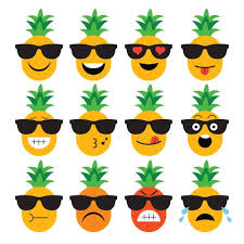 pineapple with sunglasses clipart. pin pineapple clipart face #3 with sunglasses h