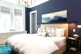 dark blue bedroom walls. Dark Blue Bedroom Walls Navy With Beige Headboard Feature Wall G