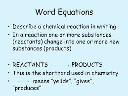 3 word equations