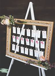 diy bohemian wedding seating chart