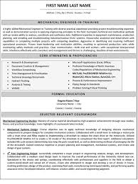 Mechanical Engineer Resume Unique Mechanical Engineer Resume Sample Template