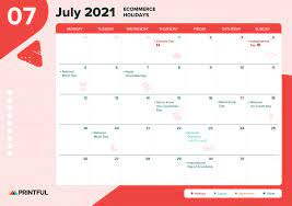 2021 ecommerce holiday calendar