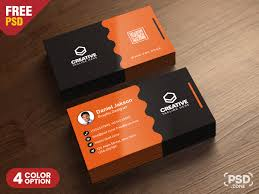 Free Psd Business Card Templates Clean Business Card Psd Templates Psd Zone