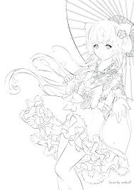 Anime Coloring Pictures Printable Coloring Page Anime Cat Coloring